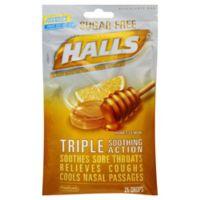 Halls® 25-Count Sugar-Free Throat Drops in Honey Lemon