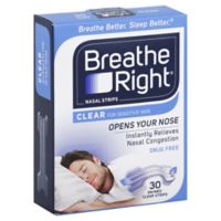 Breathe Right Size Small/Medium 30-Count Nasal Strips in Clear
