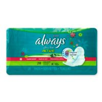 Always Fresh Ultra Thin Active 28-Count Long Super with Wings Pads