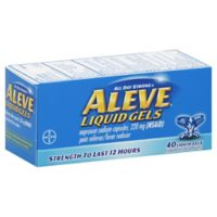 Aleve® Liquid Gels 40-Count Pain Reliever/Fever Reducer Liquid Gels