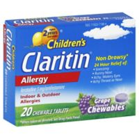 Claritin® Children's Allergy 20-Count Chewable Tablets in Grape Flavor