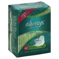 Always Maxi Ultra Thin 42-Count Long Super Pads With Wings