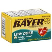 Bayer® Aspirin 32-Count Low Dose Safety Coated Tablets