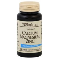 Harmon® Face Values™ 100-Count Natural Calcium, Magnesium, Zinc Tablets