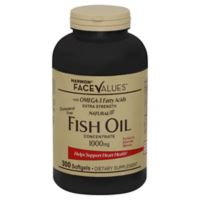 Harmon® Face Values™ 300-Count Extra-Strength Natural Fish Oil Concentrate Softgels