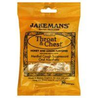 Jakemans Throat & Chest 30-Count Menthol Lozenges in Honey Lemon