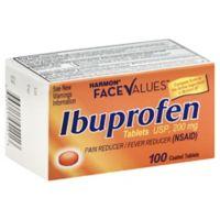 Harmon® Face Values™ Orange Ibuprofen 100-Count 200 mg Tablets