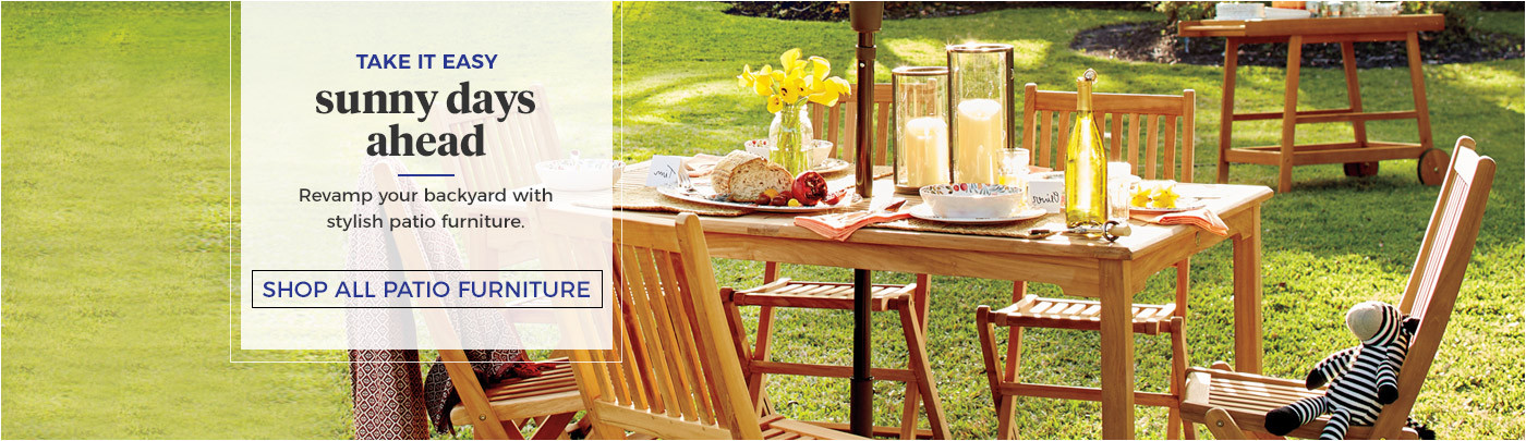 Sunny Days Ahead! Shop All Patio Furniture