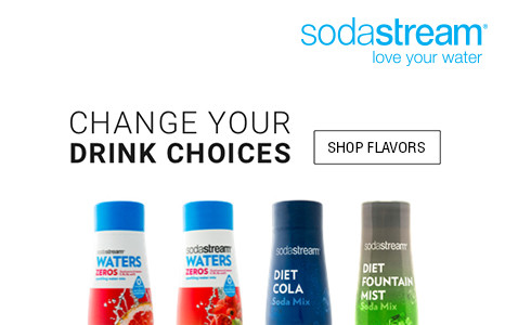 change your drink choices - shop sodastream flavors