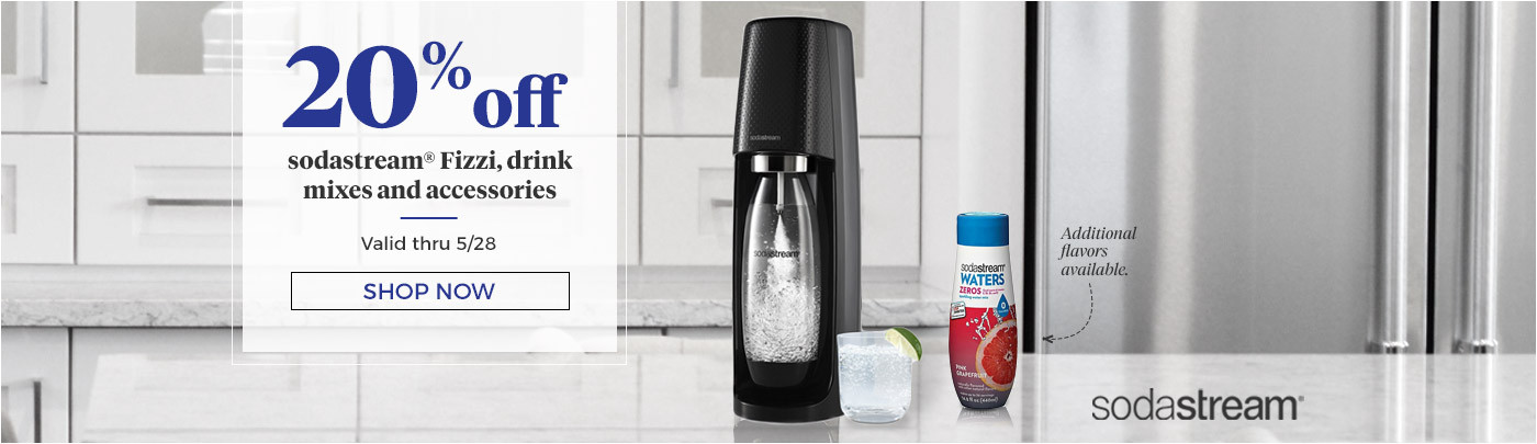 20% off sodastream fizzi, drink mixes and accessories
