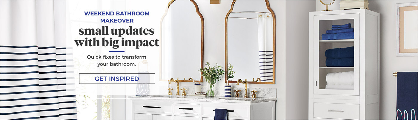 Weekend Bathroom Makeover. Get Inspired