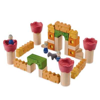 PlanToys® 35-Piece Castle Blocks Set