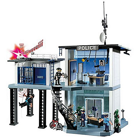 Playmobil police station with alarm system bed bath for Kitchen set zabawka