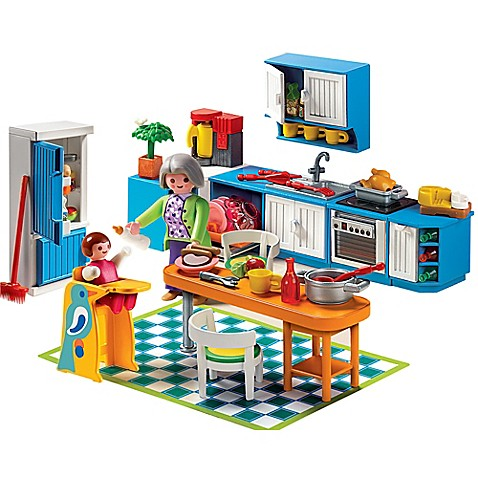 Buy playmobil grand kitchen set from bed bath beyond for Table playmobil