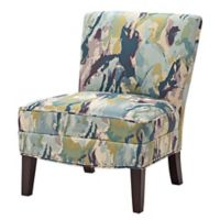 Madison Park Hayden Curved Back Slipper Chair in Multi