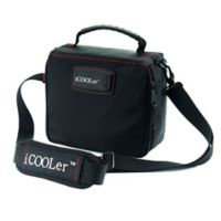 iCOOLer™ Small Freezable Lunch Bag & Beverage Cooler in Black