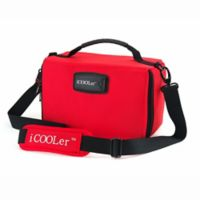 iCOOLer™ Large Freezable Lunch Bag & Beverage Cooler in Red