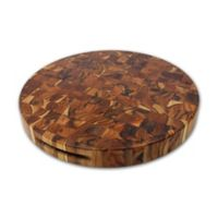 Madeira Housewares 18-Inch Extra Large Round Chop Block Cutting Board in End Grain