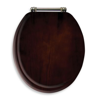 wooden toilet seat hinges. Ginsey Round Toilet Seat in Espresso Wood Buy Hinges from Bed Bath  Beyond