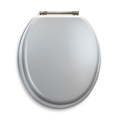 Buy Silver Toilet Seat from Bed Bath Beyond