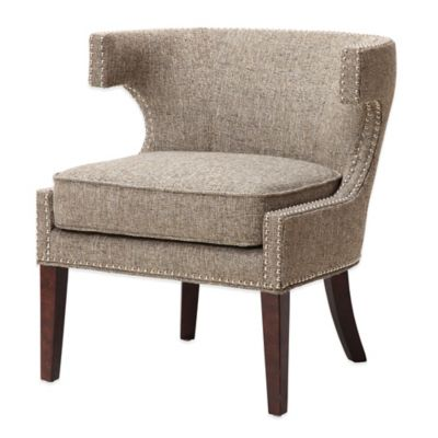 Madison Park Stella Contemporary Cutout Arm Chair In Grey