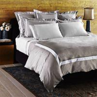 Frette At Home Arno Standard Pillow Sham in Stone/White