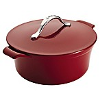 Anolon® Vesta Cast Iron 5-Quart Round Covered Casserole in Red