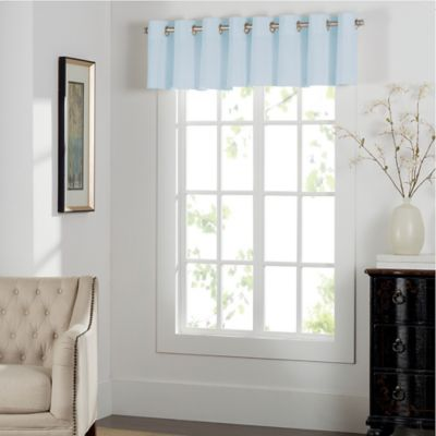 buy blue window treatments valances from bed bath beyond. Black Bedroom Furniture Sets. Home Design Ideas