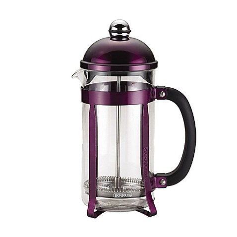 buy bonjour 8 cup maximus french press in purple from bed bath beyond. Black Bedroom Furniture Sets. Home Design Ideas