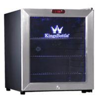Kingsbottle 38-Can Compressor Mini Bar Fridge in Stainless Steel