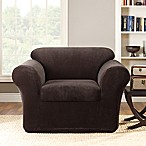 Sure Fit® Stretch Metro 2-Piece Chair Slipcover in Espresso