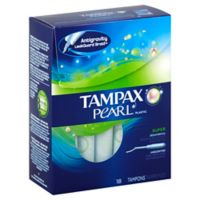 Tampax Pearl 18-Count Super Unscented Tampons