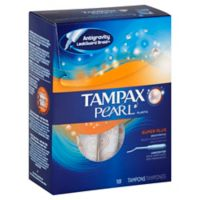 Tampax Pearl 18-Count Super Plus Unscented Tampons