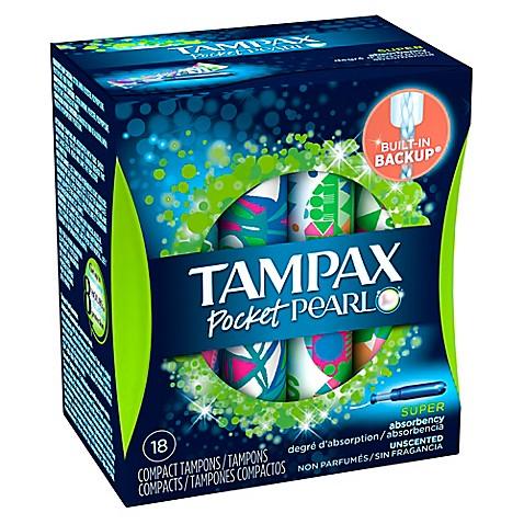 tampax pearl compak 20 count super tampons bed bath beyond. Black Bedroom Furniture Sets. Home Design Ideas