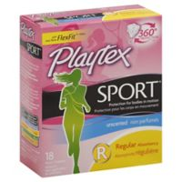 Playtex® Sport™ 18-Count Regular Unscented Tampons