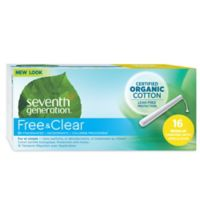 Seventh Generation 16-Count Feminine Applicator Regular Tampons