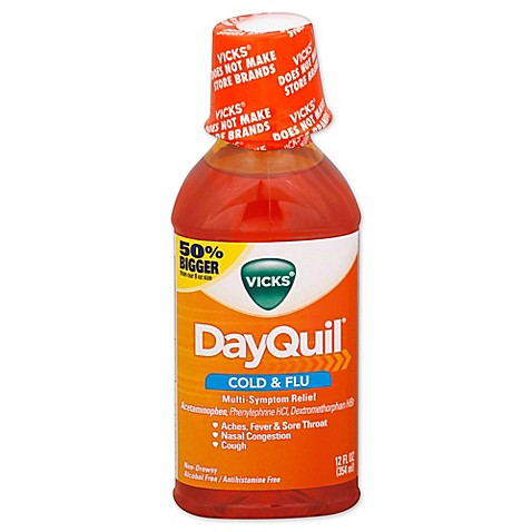 Vicks DayQuil 12 Oz Liquid Bed Bath amp Beyond