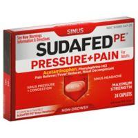 Sudafed PE 24-Count Sinus Pressure + Pain Caplets