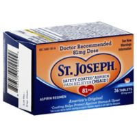 St. Joseph Enteric Coat 36-Count 81 mg Aspirin
