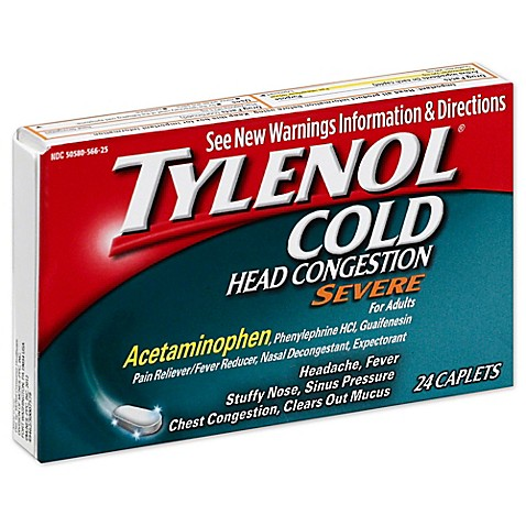 Tylenol 174 Cold 24 Count Head Congestion Severe Caplets