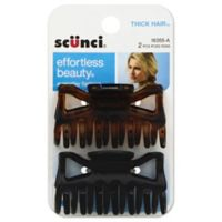 Scunci 2-Pack Thick Hair Jaw Clip