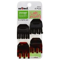 Scunci 4-Count No-Slip Tight Grip Hair Jaw Clip