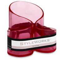 STYLEWURKS™ Trio Cylinder Brush Holder in Clear Pink