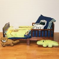 One Grace Place Jazzie Jungle Boy 4-Piece Toddler Bedding Set