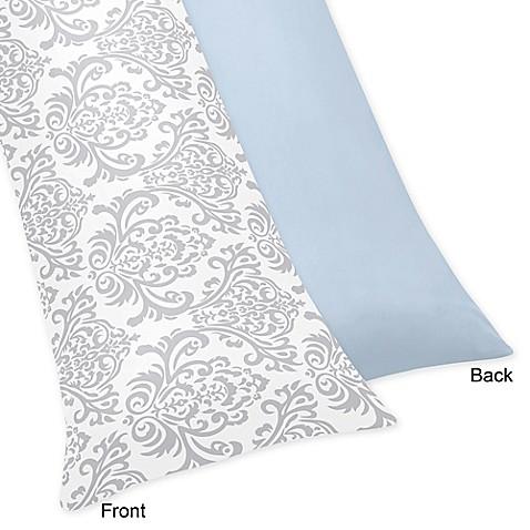 Sweet Jojo Designs Avery Body Pillow Case In Blue And Grey