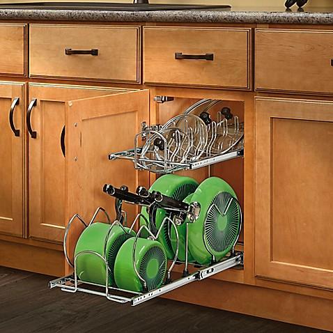 Rev A Shelf 174 2 Tier Cookware Organizer Bed Bath Amp Beyond