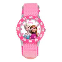 "Disney® Children's 32mm Anna and Snow Queen Elsa ""Frozen"" Watch in Pink"