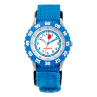 Red Balloon Children's 32mm Time Teacher Numbered Bezel Watch in Stainless Steel with Blue Strap