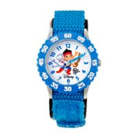 Disney® Children's Jake and the Never Land Pirates Time Teacher Watch in Stainless Steel