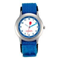 Red Balloon Children's 30mm Time Teacher Watch in Stainless Steel with Blue Strap